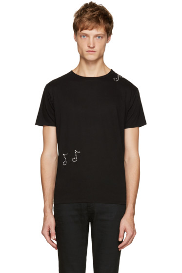 Saint Laurent - Black Crystal T-Shirt