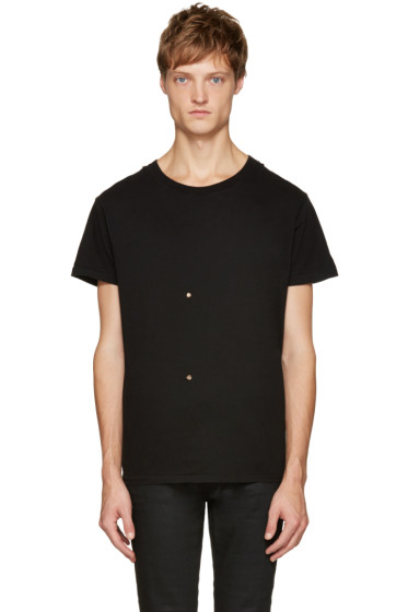 Saint Laurent - Black Grunge Destroyed T-Shirt