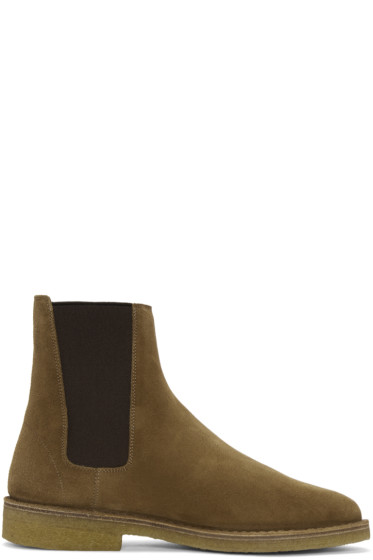 Saint Laurent - Tan Suede Nevada Boots