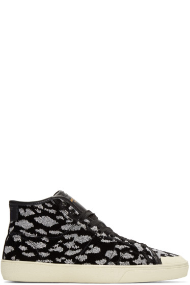 Saint Laurent - Black Animal Print SL/37 Sneakers