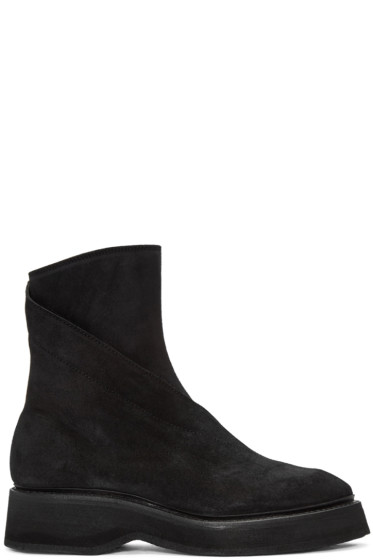 Julius - Black Twisted Zip-Up Boots