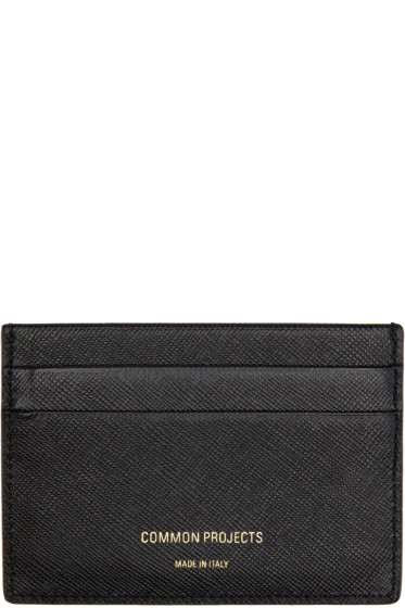 Woman by Common Projects - Black Leather Multi Card Holder