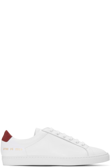 Woman by Common Projects - White Achilles Retro Sneakers