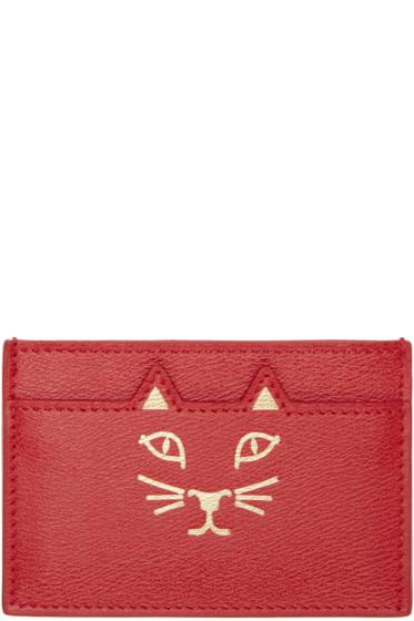 Charlotte Olympia - Red Feline Card Holder