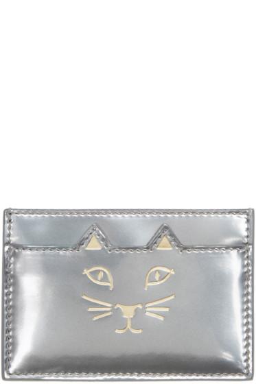 Charlotte Olympia - Silver Feline Card Holder