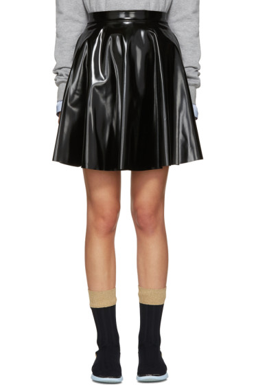 MSGM - Black Vinyl Circle Skirt
