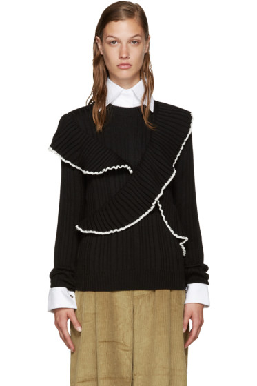 MSGM - Black Ruffled Sweater