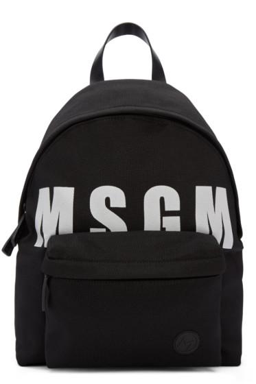 MSGM - Black Logo Backpack
