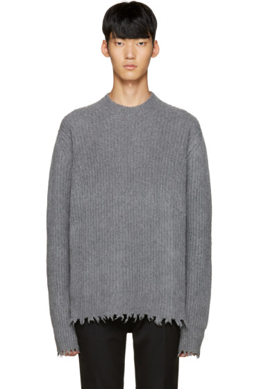 MSGM - Grey Unfinished Sweater