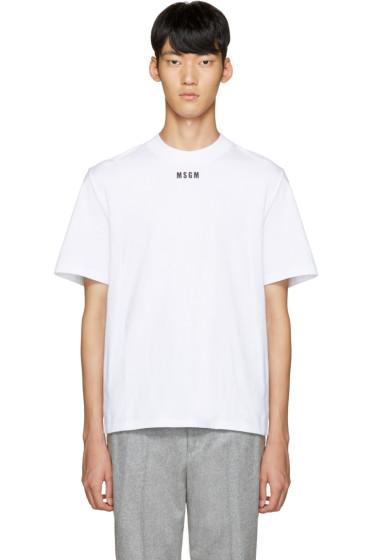 MSGM - White Logo T-Shirt