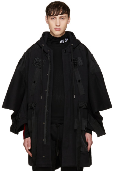 KTZ - Black Jersey Patches Coat