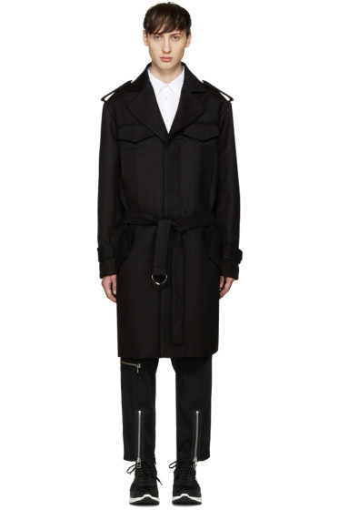 KTZ - Brown Wool Trench Coat