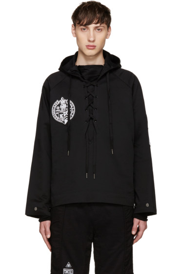 KTZ - Black Lace-Up Hoodie