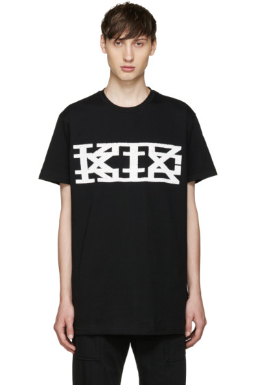 KTZ - Black Textured Logo T-Shirt