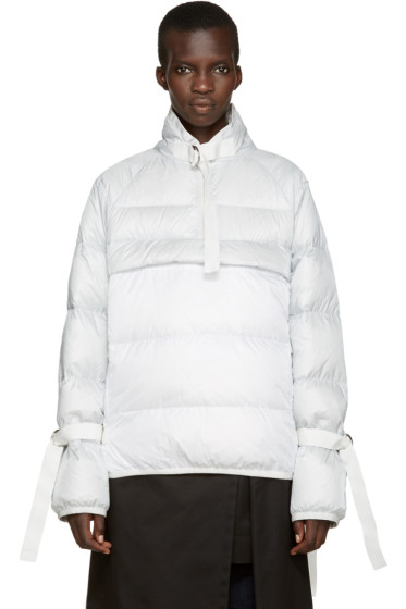 Sacai - Grey & White Down Jacket