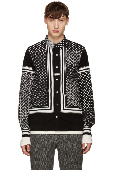 Sacai - Black & White Printed Shirt
