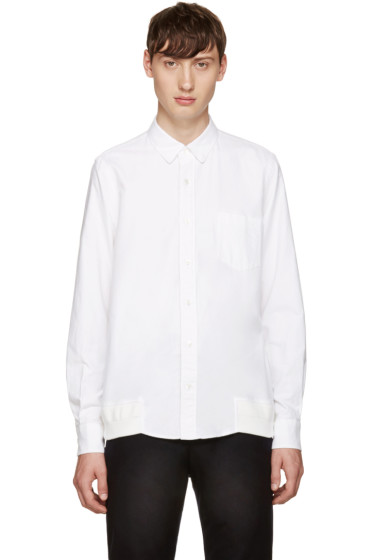 Sacai - White Flannel Shirt