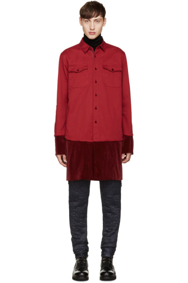 Sacai - Red Layered Shirt