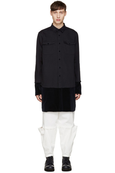 Sacai - Navy Layered Shirt