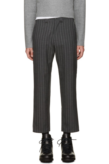Nanamica - Grey Wool Pinstripe Trousers