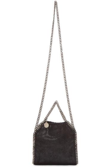 Stella McCartney - Black Falabella Shaggy Deer Tiny Shoulder Bag