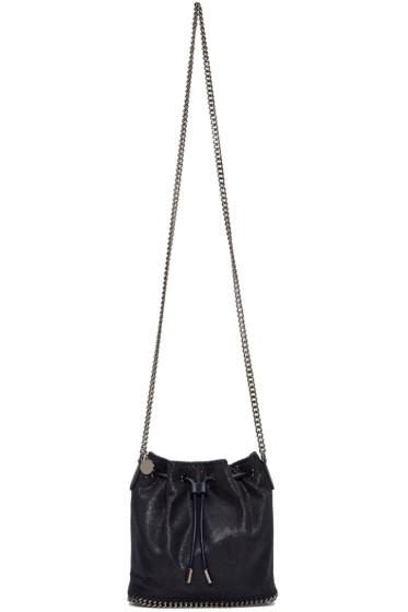 Stella McCartney - Navy Small Falabella Shaggy Deer Bucket Bag