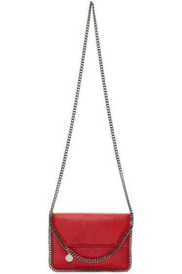 Stella McCartney - Red Pure Falabella Shaggy Deer Bag