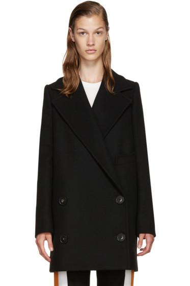 Stella McCartney - Black Wool Double-Breasted Coat