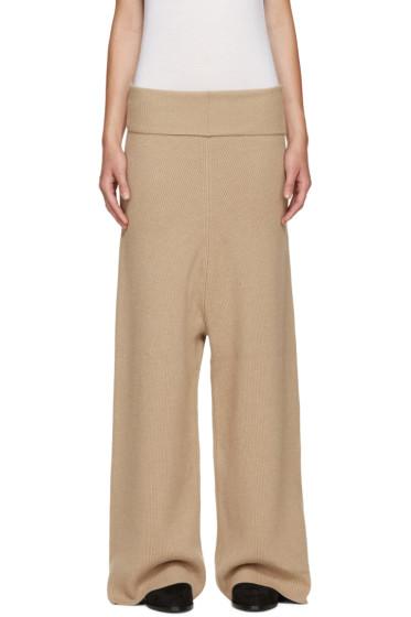 Stella McCartney - Camel Wool Lounge Pants