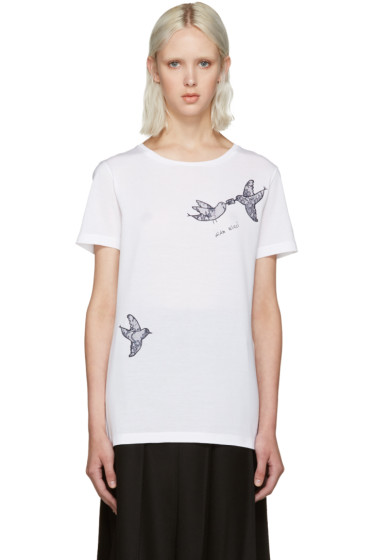 Nina Ricci - White Lace Bird T-Shirt