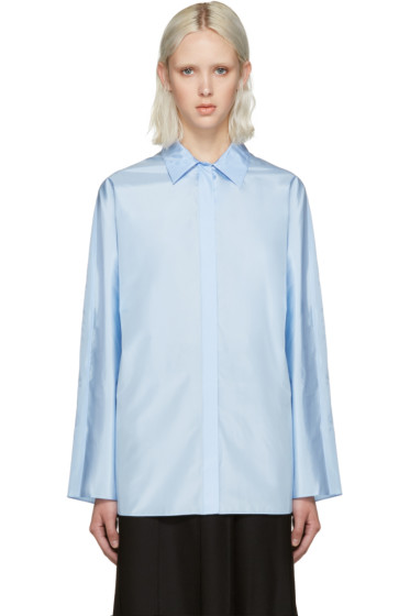 Nina Ricci - Blue Technical Silk Blouse