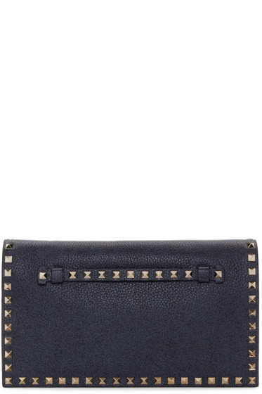 Valentino - Blue Leather Rockstud Clutch