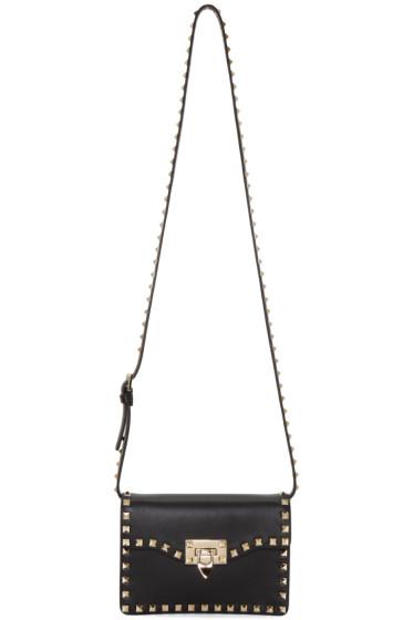 Valentino - Black Rockstud Flap Bag