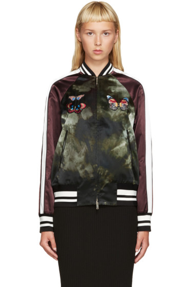 Valentino - Multicolor Embroidered Tie Dye Bomber Jacket