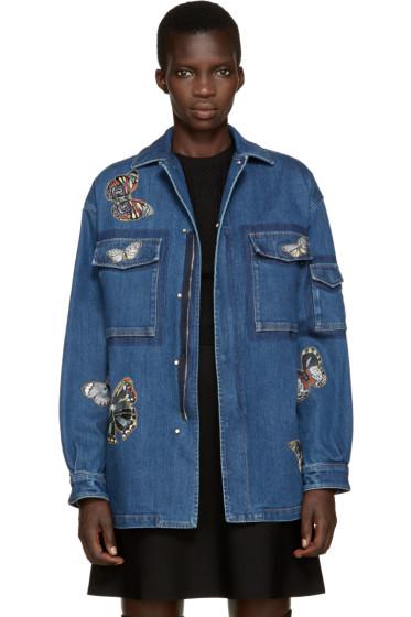 Valentino - Blue Denim Butterfly Jacket