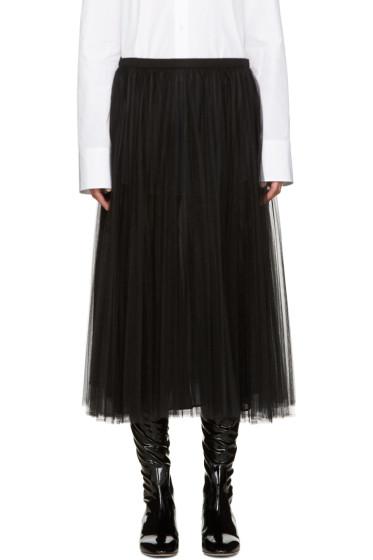 Valentino - Black Tulle Skirt