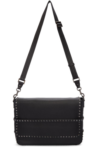 Valentino - Black Rockstud Messenger Bag