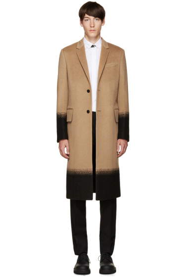 Valentino - Tan Camel Needlepoint Coat