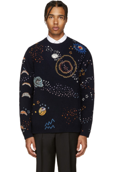 Valentino - Navy Constellations Sweater