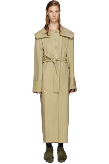 J.W.Anderson - Tan Draped Trench Coat