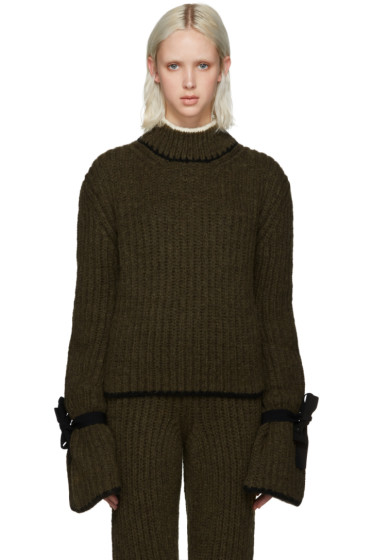 J.W.Anderson - Green Cinched Sleeve Sweater