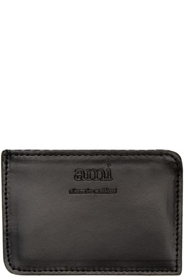AMI Alexandre Mattiussi - Black Leather Card Holder