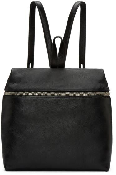 Kara - Black Leather Backpack