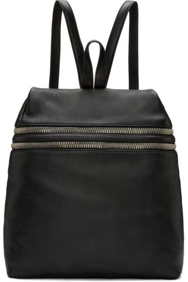 Kara - Black Double Zip backpack