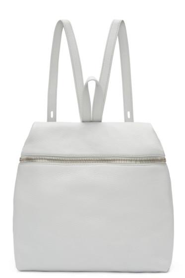 Kara - Grey Leather Backpack