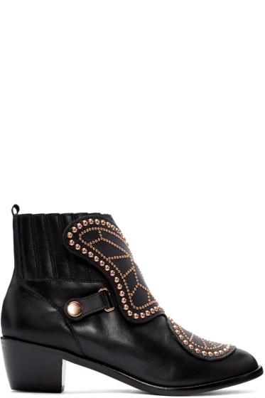 Sophia Webster - Black Karina Butterfly Boots