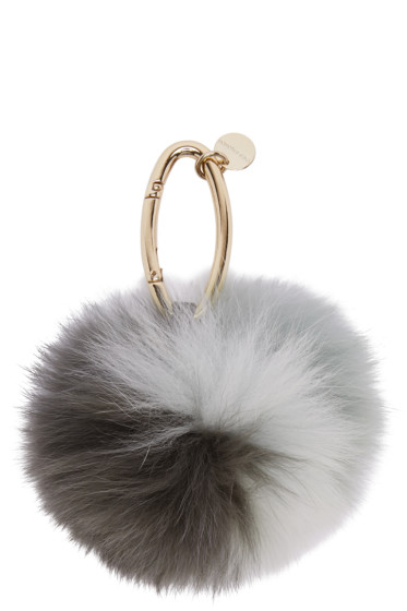 Yves Salomon - Grey Fur Keychain