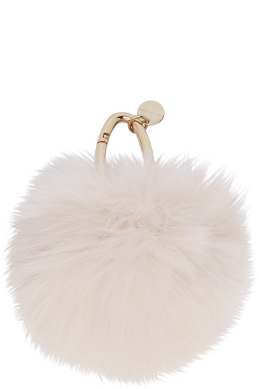 Yves Salomon - Pink Fur Keychain