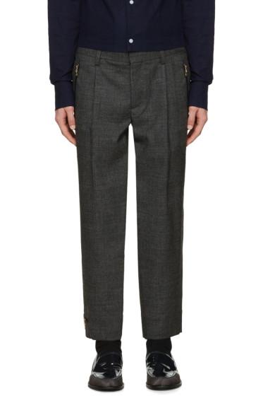 Kolor - Grey Wool Zip Trousers