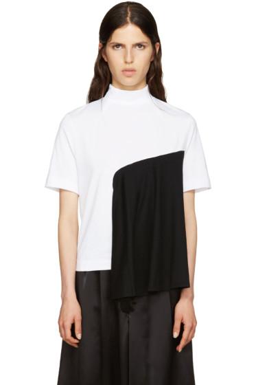Facetasm - White & Black Panel T-Shirt